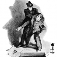 It's no use, John Clay - Illustration by Sidney Paget from The Red-Headed League