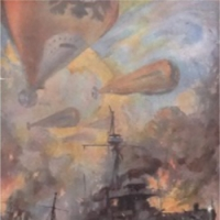 The War in the Air - First Edition Cover Illustration